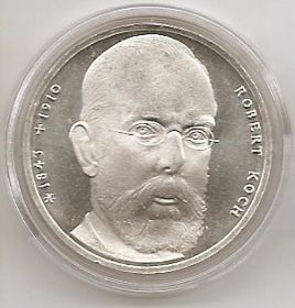 150 лет со дня рождения Роберта Коха 10 марок ФРГ 1993 J