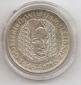 250 лет со дня смерти Готфрид Вильгельм Лейбнитц 5 марок Германия 1966