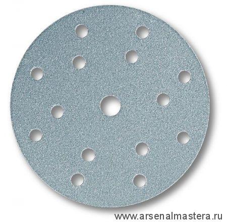 Шлифовальный круг на бумажной основе липучка Mirka Q.SILVER 150мм 15 отверстий P180 в комплекте 100шт