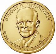 1 доллар США 2015 год 34 Президент Дуайт Эйзенхауэр
