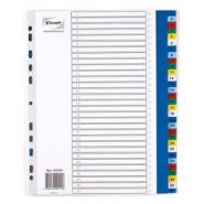 Разделитель листов из цветного пластика  «Комус», А4, 31 разделов