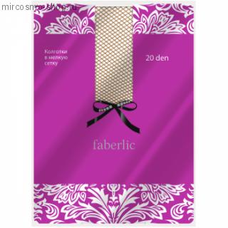 Эластичные колготки сетка, цвет бежевый, 20 den