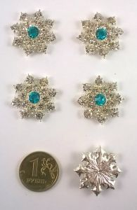 Кабошон, металл, цвет основы - серебро, 25 мм. 1уп = 10шт, Арт. КБС0008