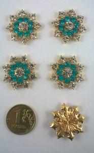 Кабошон, металл, цвет основы - золото, 25 мм. 1уп = 10шт, Арт. КБС0007