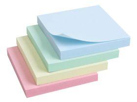 Блок бумаги на склейке 76*76 100 л голубой