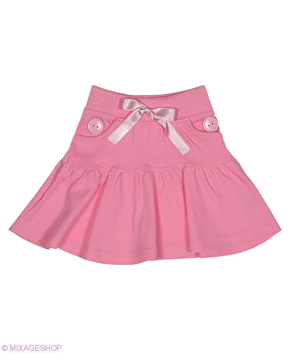Трикотажная расклешенная юбка с кармашками