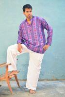 Прямые белые мужские летние штаны для йоги из хлопка, купить в Москве