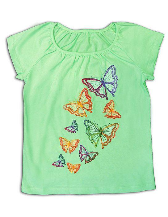 Блуза для девочки Зеленая полянка