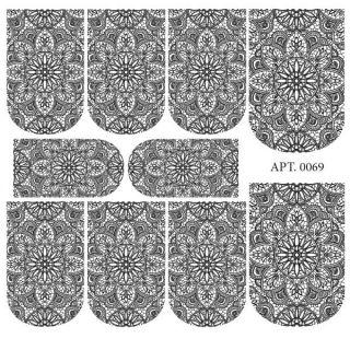 Слайдер-дизайн для ногтей № 0069