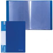 Папка с пр.вставк./10 BRAUBERG Стандарт синяя 221591