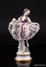 Танцующая девушка, кружевная, Volkstedt, Германия, до 1935 г