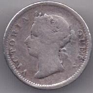 5 центов 1892 г. Гонконг .Великобритания