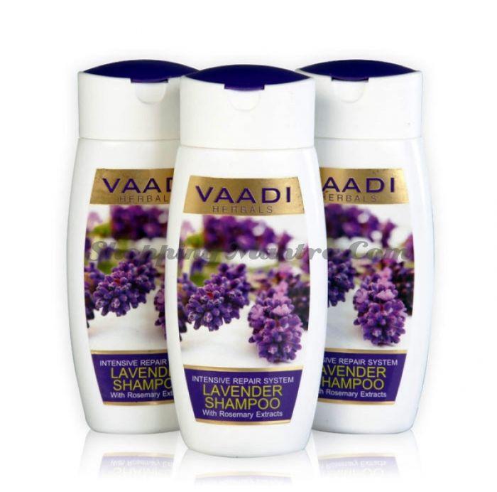 Шампунь для интенсивного восстановления волос Лаванда&Розмарин Ваади/ Vaadi Herbals Lavender Shampoo