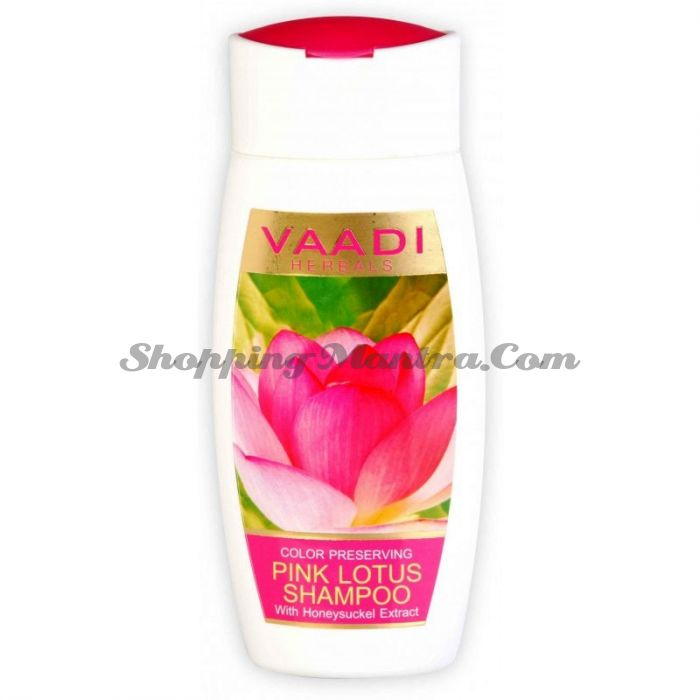 Шампунь для окрашенных волос Розовый Лотос&Мед Ваади/ Vaadi Herbals Pink Lotus Shampoo