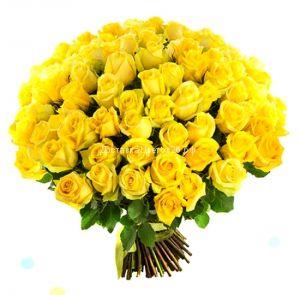 51 и 101 желтая роза по оптовой цене