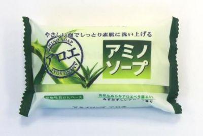 Японское мыло с аминокислотами и экстрактом алоэ «Amino Soap» Pelican