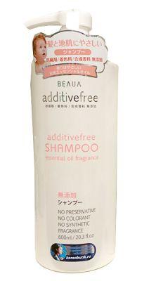 Японский шампунь Additive free Натуральный, без вредных добавок Beaua