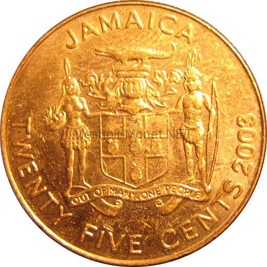 Ямайка 25 центов 2003 г.