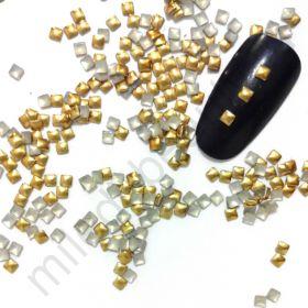 Фигурки металлические - квадрат (2 мм) цвет: золото