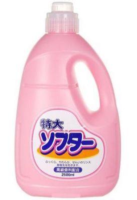 Японский кондиционер для белья Soft Pink Marufuku Cleanser против катышков, 2500мл