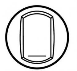 Клавиша Белая выкл.  с этикеткой (арт.68014)
