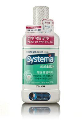 Корейский ополаскиватель д/рта Dentor Systema Мягкая свежесть CJ Lion