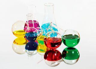 Почтовая открытка Химическая лаборатория