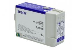 Картридж с цветными чернилами для Epson TM-C3400 CMY (SJIC15P)