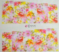 Водная наклейка для дизайна ногтей С111