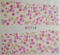 Водная наклейка для дизайна ногтей С112