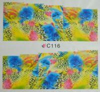 Водная наклейка для дизайна ногтей С116