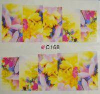 Водная наклейка для дизайна ногтей С 168