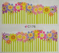 Водная наклейка для дизайна ногтей С 176