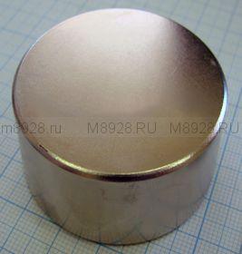 Магнит неодимовый диск 50х30мм (90кг.)