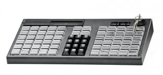 Программируемая клавиатура АТОЛ KB-76-KU черная c ридером магнитных карт на 1-3 дорожки
