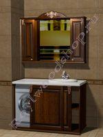 """Мебель в ванную под встроенную стиральную машину """"Глазго-С КОМБИ-L орех"""""""