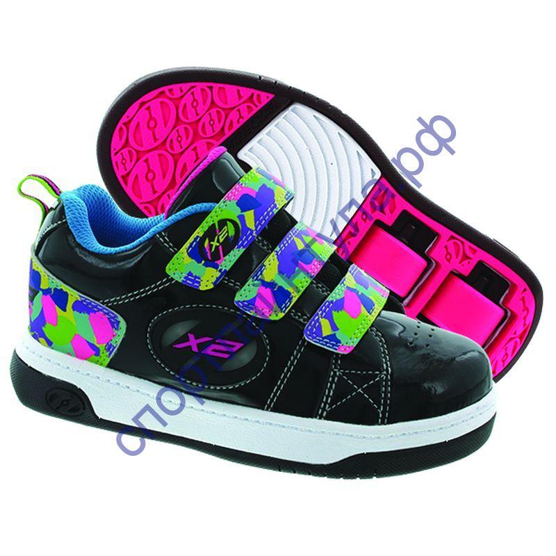 ec3b3941 Двухколесные роликовые кроссовки Heelys Speed X2 770274 со светодиодами