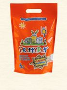 Pretty Pet Древесный наполнитель для грызунов и птиц с морковными чипсами (6 л)