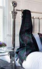 Роскошный шотландский  плед из 100 % драгоценного кашемира, Тартан Блэк Уотч Черная Стража Британской Империи Tartan Black Watch Cashmere