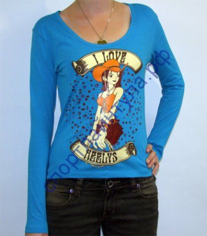Футболка женская Love Long Sleeve Blue, арт. 4307