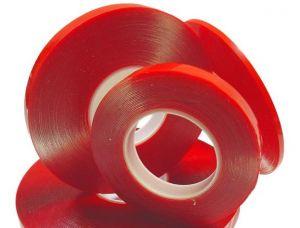 Скотч двухсторонний (3 мм x 25 м) 0,05 мм (red)