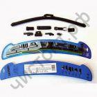 """Щетка стеклоочист. BREMAX UWB-14, 14"""", 35 см., бескаркас. Натур рез с графит. В комплект 9 адаптеров для ВСЕХ  типов креплений. Блистер."""