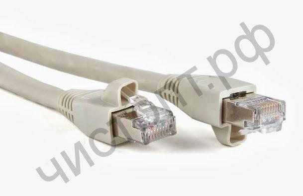 Патч-корд литой UTP Кат.5Е 2,0м серый для соединен. комп в сеть