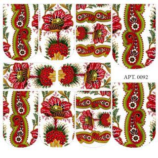 Слайдер-дизайн для ногтей № 0092