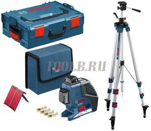 BOSCH GLL 3-80 P + BT 250 + вкладка под L-Boxx - лазерный нивелир