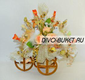 """Букет из конфет №466 """"Свадебные голуби"""""""