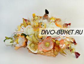 """Букет из конфет №467 """"Свадебная шкатулочка с кольцами"""""""