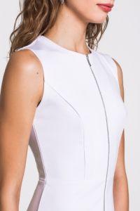 Блузка на молнии белая Концепт клаб