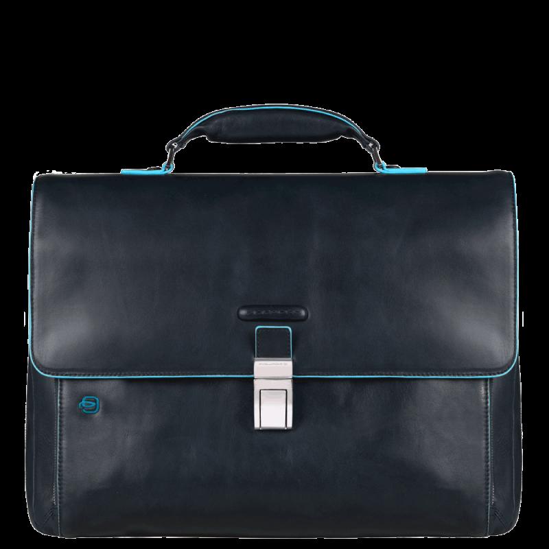 Портфель Piquadro CA3111B2/BLU2 кожаный темно-синий