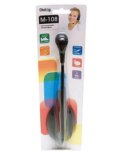Микрофон ПК Dialog с гибкой ножкой M-108B